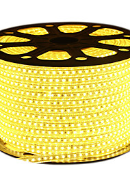cheap -HKV® 1PCS 10M 63W LED Strip 2835SMD 600LED 2800-3200K 6000-6500K IP65 LED Outdoor Waterproof Light Strip EU Plug     AC 220-240V