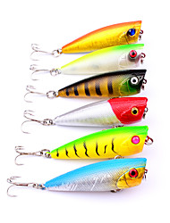 cheap -6 pcs Fishing Lures Popper Plastic ABS Sea Fishing Fly Fishing Bait Casting Spinning Jigging Fishing Freshwater Fishing Other Trolling &