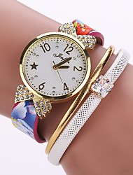 abordables -Mujer Cuarzo Reloj Pulsera Chino Gran venta PU Banda Encanto Vintage Casual Reloj creativo único Elegant Moda Negro Blanco Azul Rojo Rosa