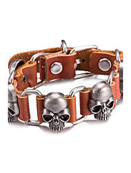 Pánské Kožené náramky Šperky Retro Slitina Skull shape Šperky Pro Denní