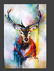Hand-Painted Animal Vertical Panoramic,Artistic Abstract Cool One Panel Canvas Oil Painting For Home Decoration