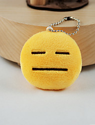 cheap -New Arrival Cute Emoji Face with Flat Eyes And Mouth Key Chain Plush Toy Gift Bag Pendant