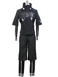 cheap -Inspired by Tokyo Ghoul Ken Kaneki Anime Cosplay Costumes Cosplay Suits Solid Color Coat Leotard/Onesie Pants For Men's Women's