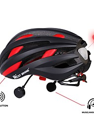cheap -WEST BIKING® Bike Helmet / BMX Helmet / Helmet 16 Vents CE Certified Certification Bluetooth, Multi-function, Lights EPS, PC Cycling /
