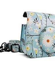 Fujifilm Instax Mini 9 Camera Case Light blue Chrysanthemum bag