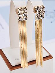 Women's Drop Earrings Tassel Fashion Rhinestone Alloy Jewelry For Party Daily