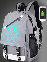 cheap -Kids Bags Canvas Backpack Zipper for Casual Outdoor All Seasons Black Gray