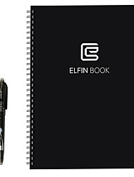 Elfinbook Smart Notebook ReusableErasableWater-to-Erase Cloud Storage Notebook