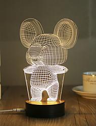 cheap -1 Set, Popular Home Acrylic 3D Night Light LED Table Lamp USB Mood Lamp Gifts, Koala