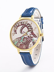 cheap -Women's Fashion Watch Quartz Hot Sale Leather Band Casual Black White Blue Silver Red Brown Pink Rose