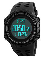 Недорогие -SKMEI Муж. Спортивные часы Наручные часы электронные часы Японский Цифровой Стеганная ПУ кожа Черный / Зеленый 50 m Защита от влаги Будильник Календарь Цифровой Роскошь На каждый день - Черный Зеленый