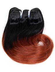 Недорогие -Бразильские волосы Естественные кудри / Естественные волны Натуральные волосы Омбре Ткет человеческих волос Расширения человеческих волос