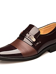 cheap -Men's Loafers & Slip-Ons Formal Shoes Fall Winter Leatherette Wedding Casual Outdoor Office & Career Party & Evening Rivet Flat Heel