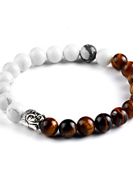 cheap -New Bohemia Colorful Natural Stone Bracelet Beads Chakra Onyx Chakra Charm Bracelet For Women Men Pulseira Mujer Accessorie