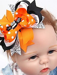el pensamiento 2pcs / lot el pelo de la calabaza de víspera de Todos los Santos arquea con el clip para los niños de los bebés