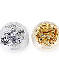 economico -2 lamina d'argento della lamina d'oro del chiodo della chiusura 2 del gruppo di colore 5g