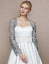 Women's Wrap Shrugs Lace Wedding Party/ Evening Beading Lace