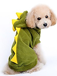 Cat Dog Costume Dog Clothes Party Cosplay Solid Green