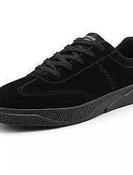 Men's Shoes PU Canvas Spring Fall Light Soles Comfort Sneakers For Casual Outdoor Black Dark Grey Dark Brown