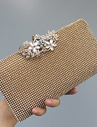 cheap -Women's Bags leatherette Evening Bag Crystals Gold / Black / Silver