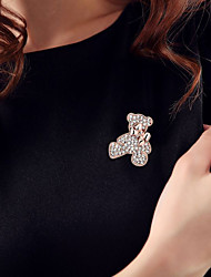 cheap -Women's Brooches - Rhinestone Bear Fashion, Cute Brooch Gold / Silver For Daily / Casual