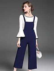 cheap -YIYEXINXIANG Women's Work T-shirt - Solid Colored Pant