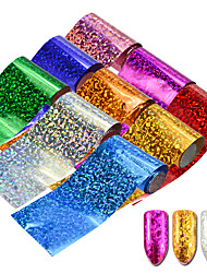 cheap -9pcs/Set Colorful Starry Holographic Nail Art Foils Sticker Cat Eye Laser Starry Nail Art DIY Beauty Transfer Foils Stickers Glitter Decoration