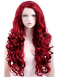 cheap -Synthetic Hair Wigs Deep Wave Natural Wave Natural Hairline Layered Haircut Capless Party Wig Natural Wigs Long Red