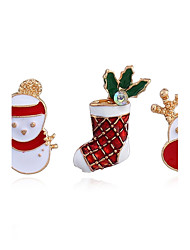 cheap -Women's Brooches Fashion Chrismas Alloy Jewelry For Casual Christmas