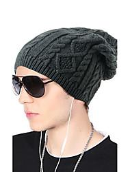 Unissex Chapéu Estampado Decoração de Cabelo Casual Chique & Moderno Mantenha Quente Roupa de Malha Acrílico Outono Inverno Gorro Floppy,