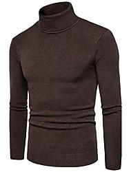 abordables -Homme Grandes Tailles Pullover - Couleur Pleine Col Roulé
