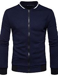 preiswerte -Herrn Solide Alltag Ausgehen Freizeit Street Schick Pullover Standard Langarm V-Ausschnitt Winter Herbst Baumwolle Polyester