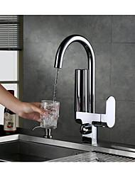 cheap -Metallic Centerset Ceramic Valve Chrome, Kitchen faucet