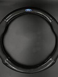 Automotivo Capas para Volante(Fibra de Carbono)Para Ford Todos os Anos Todos os Modelos