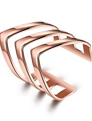 cheap -Women's Midi Rings Jewelry Cute Style Fashion Adjustable Personalized Titanium Steel Silver Plated Gold Plated Geometric Irregular Jewelry