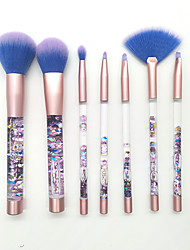 cheap -7 pcs Makeup Brush Set Synthetic Hair Lipstick Eyebrow EyeShadow Highlighter Blush Concealer Powder Foundation