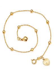 abordables -Plaqué or - Femme Or Ajustable / Style Simple Rond / Forme de Cercle Bracelet de cheville Pour Plage / Sortie