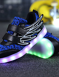 cheap -Boys' Shoes Knit Breathable Mesh Tulle Leatherette Fall Winter Light Up Shoes Comfort Light Soles Sneakers Sequin Magic Tape Hook & Loop