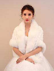 Women's Wrap Shawls Faux Fur Wedding Party/ Evening Printing Ruching