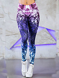 Women's Medium Print Legging,Print Fashion, slim, elastic, hip, athletic pants