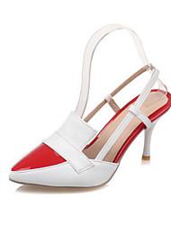 abordables -Femme Chaussures Polyuréthane Printemps Automne Confort Nouveauté A Bride Arrière Chaussures à Talons Talon Aiguille Bout pointu Boucle