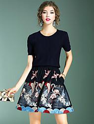 preiswerte -Damen T-shirt - Stickerei, Bestickt Rock