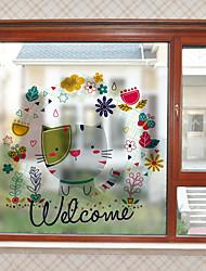 Недорогие -Ар деко Рождество Стикер на окна, ПВХ/винил материал окно Украшение Для гостиной