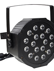 cheap -30W RGB 18 LEDs Par Stage Effect Lighting DMX512 Sound Activated for Disco DJ KTV Bar Wedding