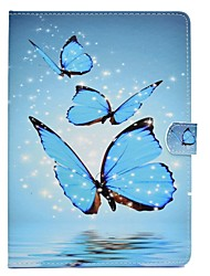 cheap -For iPad (2017) Case Cover Card Holder with Stand Flip Pattern Magnetic Full Body Case Butterfly Hard PU Leather for Apple iPad pro 10.5