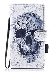 cheap -Case For Samsung Galaxy J7 (2017) J5(2016) J3 (2017) J3(2016) Card Holder Wallet with Stand Flip Magnetic Pattern Full Body Cases Skull