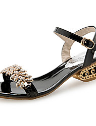 cheap -Women's Shoes PU Summer Comfort Sandals for Outdoor Gold Black Silver