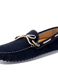 Men's Shoes PU Spring Fall Driving Shoes Boat Shoes Bowknot For Casual Green Brown Dark Blue