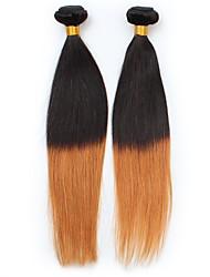 cheap -Peruvian Hair Straight Human Hair Weaves Ombre Hair Weaves Women's Daily