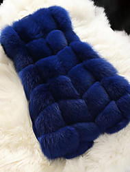 cheap -Faux Fur Wedding Party / Evening Women's Wrap With Buttons Vests